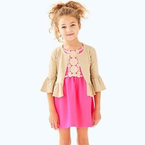 Lilly Pulitzer | Girls Langley Gold Knit Cardigan